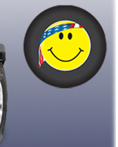 U.S. Smiley Face Tire Cover